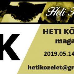 Heti Közélet, 2019.05.14.